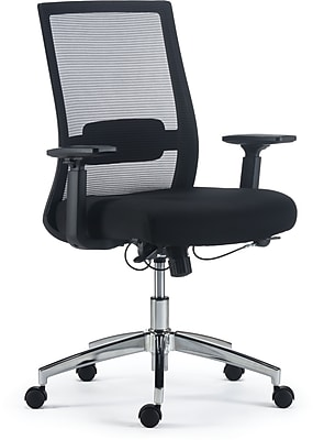 staples ergonomic mesh executive chair with headrest vintage high for sale office chairs marrett and fabric task black