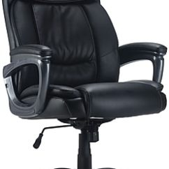 Desk Chair Tall Folding Outdoor Big Office Chairs Oversized Leather Staples Lockland Bonded Managers Black