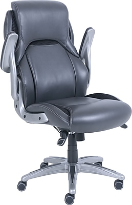 office chair with adjustable arms rattan side bristol executive gray staples https www 3p com s7 is