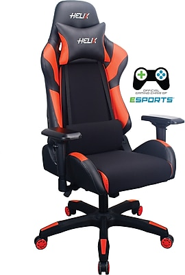 office chair red fishing backpack review staples helix gaming with cooling technology 53211