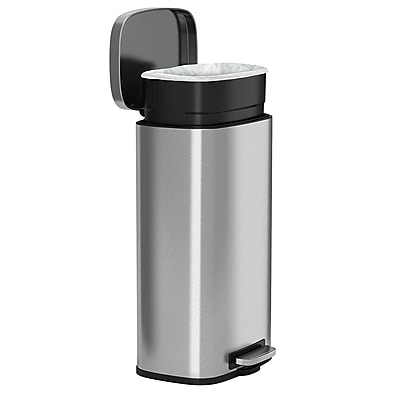 stainless steel kitchen trash can delta faucet itouchless softstep step 30 liter 8 https www staples 3p com s7 is