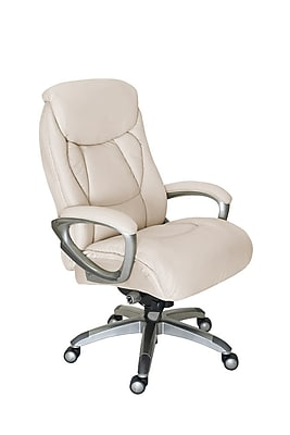 ivory leather office chair papasan frame diy serta works bonded and mesh executive with smart layers technology inspired https www staples 3p com s7 is