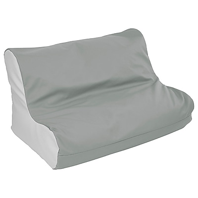 soft bean bag chairs folding chair jakarta ecr4kids softzone twin youth seat grey light elr 15662 gylg staples