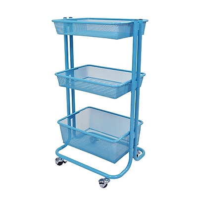kitchen utility carts pictures of remodeled kitchens offex home storage cart blue kuc bu staples