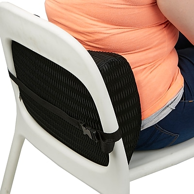 lower back support for chair recliner sale mind reader memory foam lumbar cushion designed pain relief black backfoam blk staples