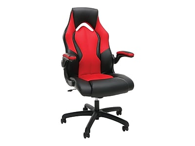 dxr racing chair big lots cushions gaming chairs computer staples ofm essentials high back faux leather red 845123090640