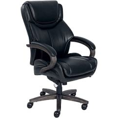 La Z Boy Big Tall Executive Leather Office Chair Black Plastic Inserts For Metal Legs Brahms Staples Bonded Task Https Www 3p Com S7 Is