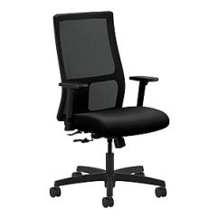 Hon Desk Chair For Back Pain Office Chairs Staples Ignition Mesh Fabric Computer And Black Hiwm1 A H M Cu10