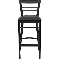 Steel Vinyl Chair Picture Frame Molding Under Rail Flash Furniture Hercules Series Black Ladder Style Back Metal Restaurant Bar Stool Seat Staples