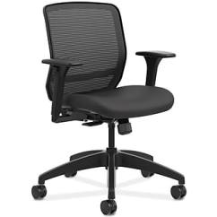 Hon Desk Chair Childrens Covers Office Chairs Staples Quotient Mesh Back Fabric Computer And Black Hqtmm Y1