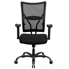 Executive Mesh Office Chair Rocking Glider Covers Flash Furniture Hercules Series Big And Tall 400 Pound Capacity Black Staples