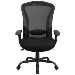 Big And Tall Computer Chairs Kid Bean Bag Chair Office Oversized Leather Staples Flash Furniture Hercules Mesh Back Fabric Desk Black