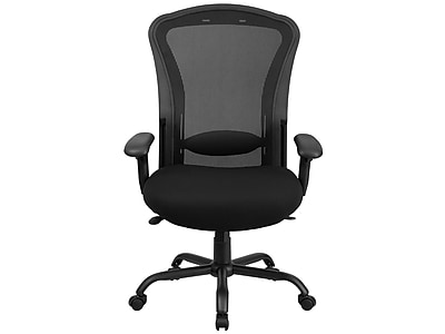 big and tall computer chair comfortable patio chairs office oversized leather staples flash furniture hercules mesh back fabric desk black