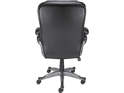 realspace fosner high back bonded leather chair white wood dining staples osgood manager s black https www 3p com s7 is
