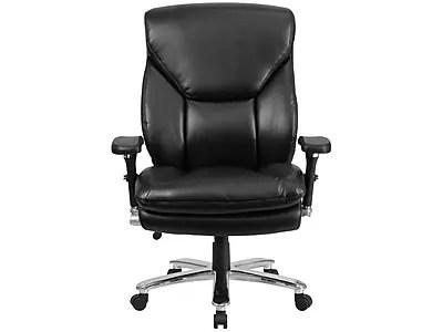 tall swivel chair leather and ottoman set flash furniture go2085lea hercules 24 7 multi shift big executive lumbar support black staples