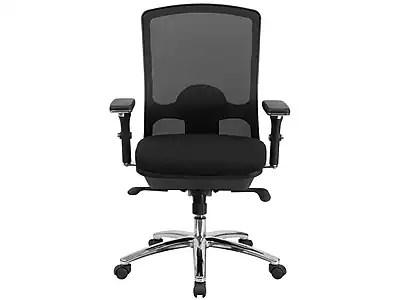 tall swivel chair queen anne flash furniture lq2bk hercules series big 350lb capacity black mesh multi functional with synchro tilt staples
