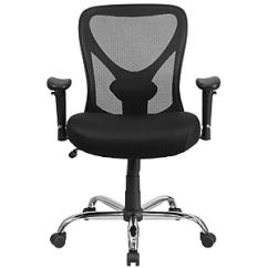 Big And Tall Computer Chair Hammock With Stand Office Chairs Oversized Leather Staples Flash Furniture Hercules Mesh Desk Black Go