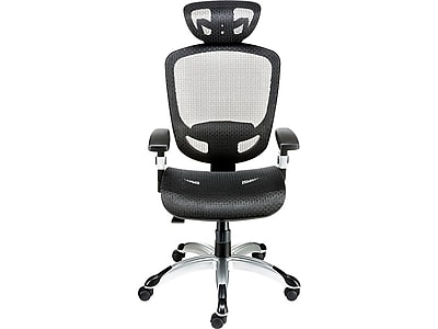 staples ergonomic mesh executive chair with headrest small dining room chairs hyken technical task black https www 3p com s7 is