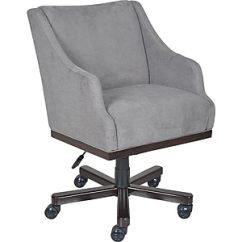 Office Chair Fabric Officeworks Recliner Chairs La Z Boy Brooklyn Managers Fixed Arms Gray Silver 45221 Staples