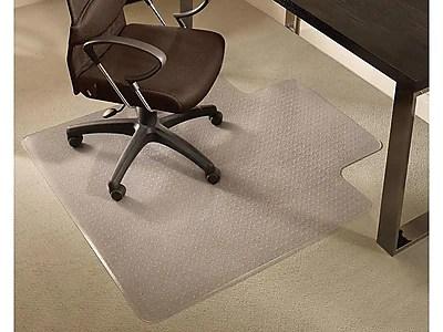 office chair mats carpet staples baby high cost 45 x 53 medium pile mat with lip https www 3p com s7 is