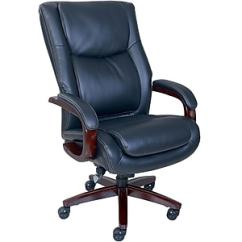 Office Chair Leather White Covers Ebay Uk La Z Boy Winston Executive Fixed Arms Black 47011 Staples