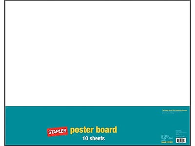 staples poster board 22 x 28 white 10 pack 28126