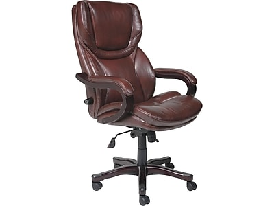 serta bonded leather executive chair zero gravity lounge costco big and tall office brown rich espresso chr200001 https www staples 3p com s7 is