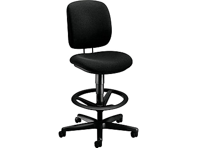 drafting chairs with arms chair mount keyboard tray india hon office stools staples comfortask fabric stool confetti black h5905ab10t next2019