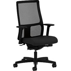 Hon Ignition Fabric Chair Ergonomic Leather Executive Office Adjustable Arms Black Honiw108cu10 Staples