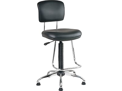 drafting chairs staples officemax office star faux leather and chrome chair with teardrop https www 3p com s7 is