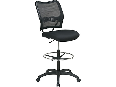 drafting office chair costco rocking star space seating ergonomic airgrid mesh stool armless black staples