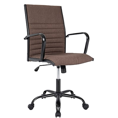 cloth office chairs christmas chair covers b and m lumisource master contemporary fabric brown ofc ac mstf bn staples
