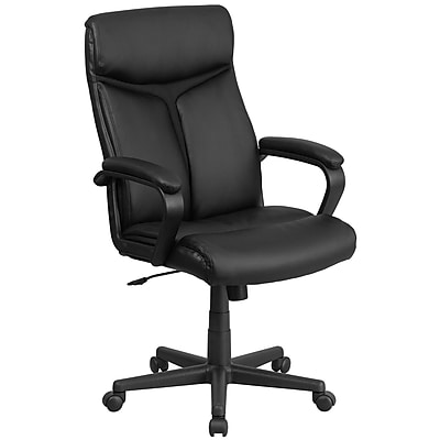 black leather office chair high back cover rentals new haven ct flash furniture executive swivel go21961