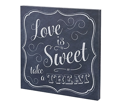 Lillian rose love is sweet canvas wedding sign also seating chart rh staples