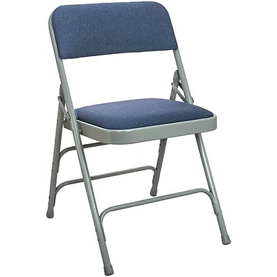 krueger folding chairs patio deck chair cushions foldable stackable staples advantage navy padded 4 pack dpi903f gn