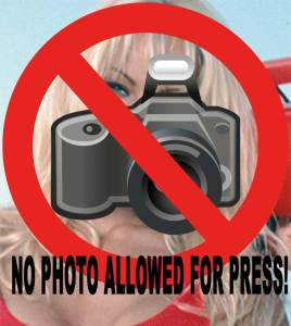 No Photo's allowed!