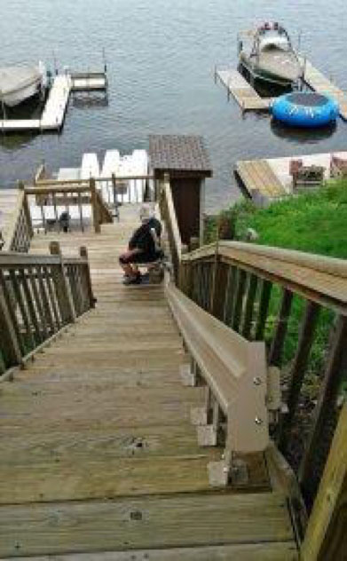 outdoor stair lift Star Lift St. Paul Minnesota