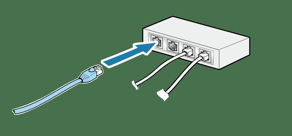 LANケーブルを接続する: mC-Print3 オンラインマニュアル