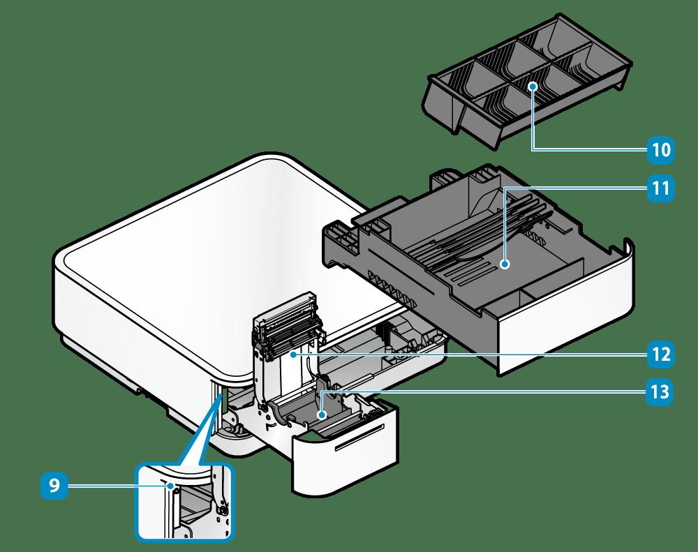 hight resolution of inside of cash drawer printer