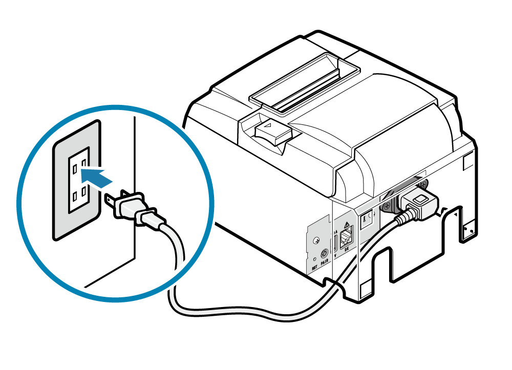 Connect Power Cable: TSP100IIIW Online Manual
