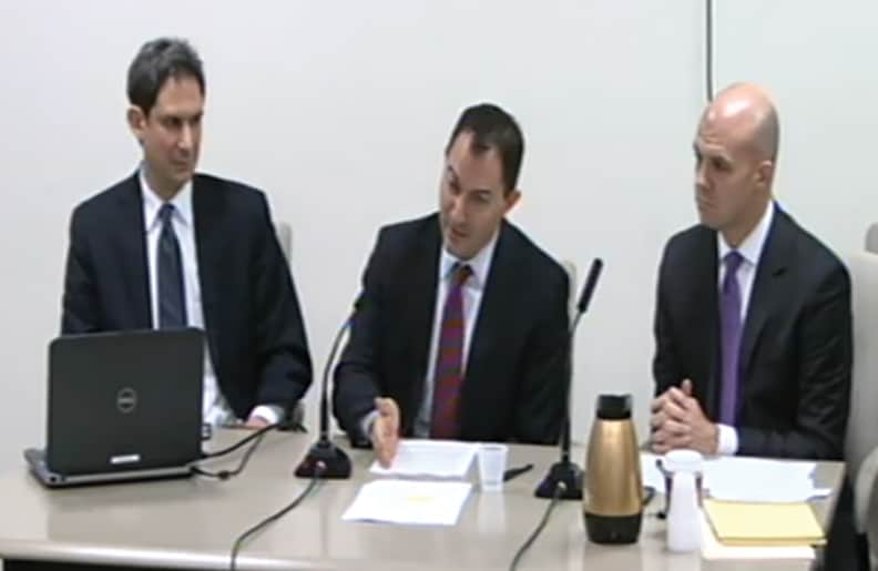 The EDC representatives making their presentation at the December 15th City Council subcommittee meeting