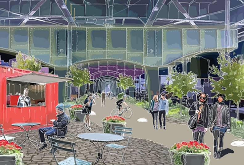 An idea for underneath the Gowanus Expressway