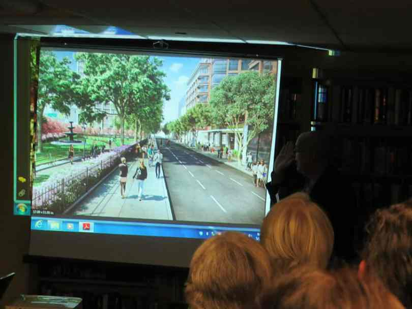This rendering shows Hicks and Pacific Street.