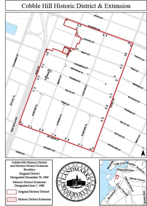 The Cobble Hill historic district.
