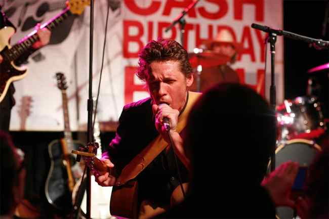 Alex Battles performing at a Johnny Cash celebration.  (photo by Michelle Talich)