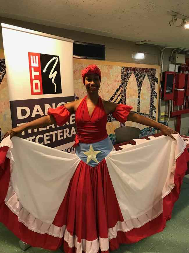 Milteri Tucker, found of Bombazo Dance Company, poses after her performance