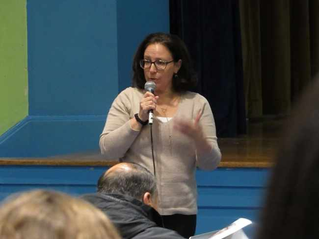 Tamar Smith talked about details regarding the new Harbor School.