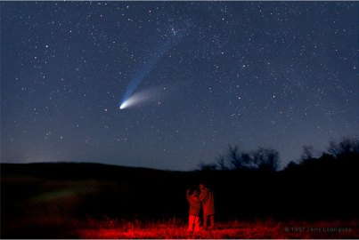 La coda della cometa Hale Bopp