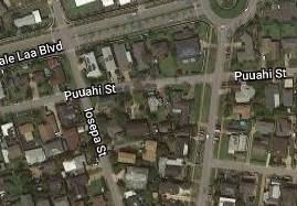 GOOGLE MAPS Honolulu police are searching for the driver who struck a 6-year-old bicyclist on Puuahi Street Friday night in Laie.