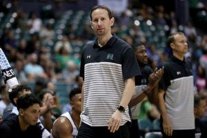 STAR-ADVERTISER / OCT. 30                                 Hawaii's head coach Eran Ganot during the second half of a Exhibition Men's Basketball game against Chaminade on Oct. 30 at the Stan Sheriff Center. Ganot will be taking a temporary medical leave of absence, school officials announced today.